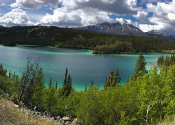 Alaskan Mountains and Lake