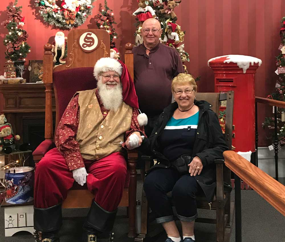 Couple with Santa