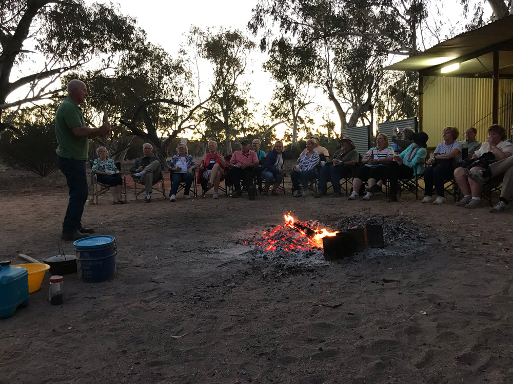 Group around Bonfire