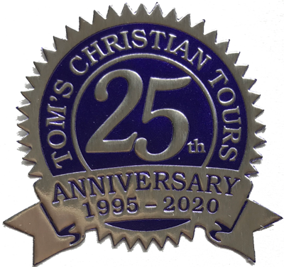 Tom's Christian Tours 25th Anniversary